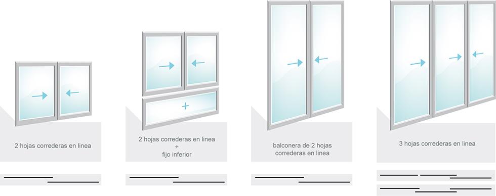 Kolux puertas y ventanas de pvc - Carriles puertas correderas ...